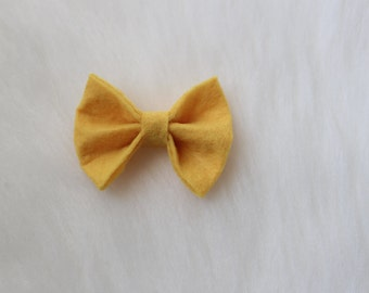 Medium Yellow Bow Headband//Yellow Bow