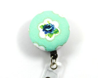 ROSE Fabric Badge Reel, Retractable Badge Reel