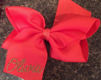 Personalized Monogrammed / Initialed / name hair bows