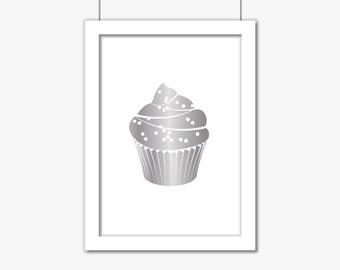 Cupcake A4 Foil Print