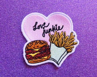 Burger&Fries Love Junkie Patch