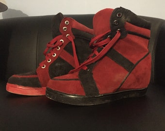 Harley Quinn Wedge-Heel Sneakers