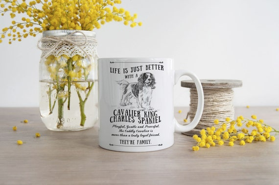 Cavalier King Charles Spaniel Mug ~ Perfect Gift can be personalised[MugShotsGifts/Etsy]