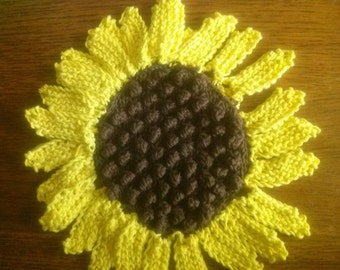 Sunflower Dishcloth or Potholder
