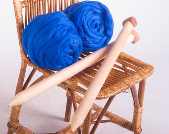 DIY blanket Super bulky yarn Knit blanket Knit Kit - 25'' x 30'' Knitting and crochet Super bulky Super chunky Chunky yarn Chunky blanket