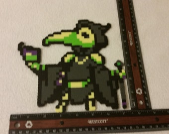 Shovel Knight Plague Knight perler bead sprite