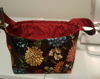 Floral Fabric Basket