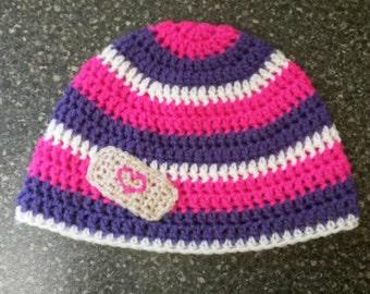 Doc Mcstuffins inspired crochet hat