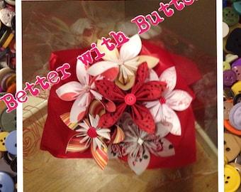 Kusudama Button Bouquet