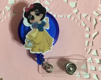Princes Snow White Disney ID Holder Badge Reel