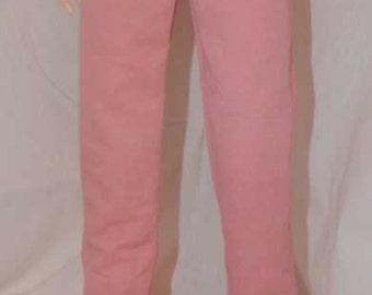 Coral Twill Pants w/Cross Stitching