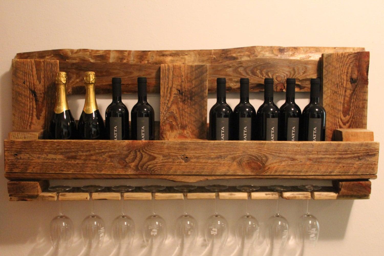 Portabottiglie cantinetta pallet vino e bicchieri for Porta vino fai da te