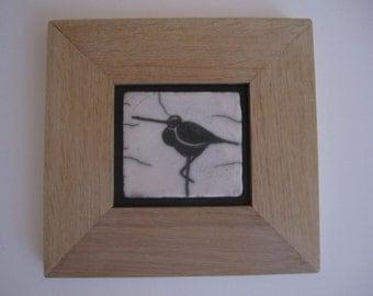 Tableau en céramique raku oiseau grec