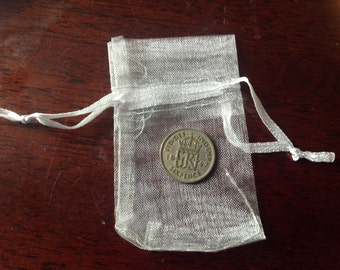 1947 Sixpence. Birthday Gift. Lucky Sixpence.