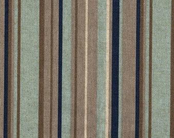 """84"""" Shower Curtain, Premier Stripe Indigo Blue, Unlined"""