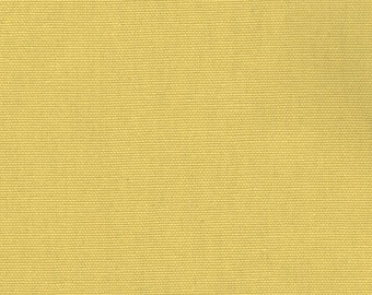 Solid Corn Yellow Cotton Twill Fabric By-the-Yard