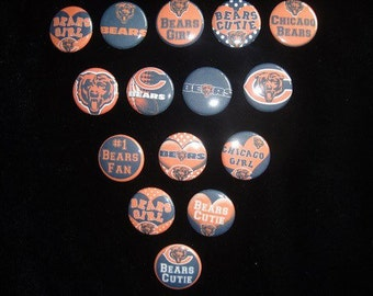 Chicago Bears Cutie Buttons Set of 15