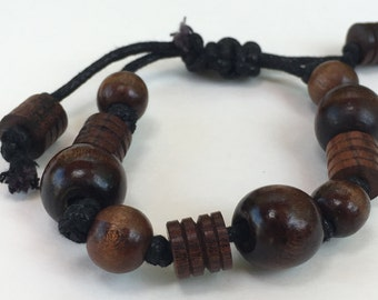 Free shipping,Handmade African wood beaded bracelet