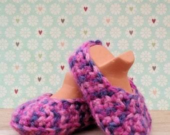 Party Pink Chunky Baby Slippers 3-6 months