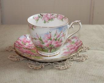 "Vintage Tea Cup Royal Albert ""Bloosom Time"" Bone China"