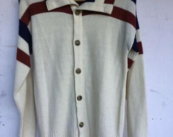 Vintage cardigan sweater, grampa cardigan sweater, gramma cardigan sweater, button front sweater, 70s sweater, mens, womens, unisex