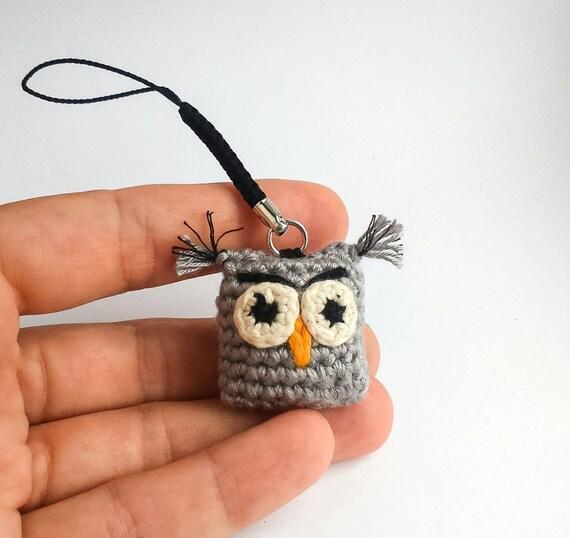 Amigurumi Owl Keychain : Keychain Owl Amigurumi