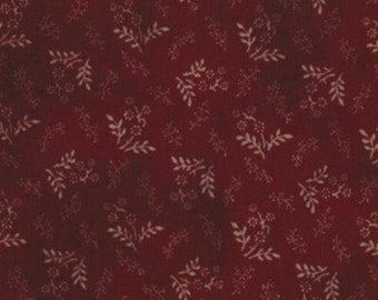 Fabric / Quilting Fabric / Primitive Gatherings Favorites / Burgundy / Moda 1076 19