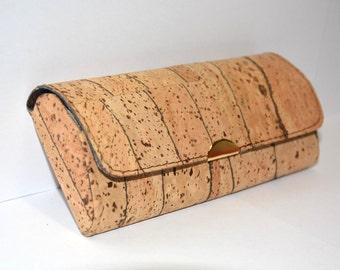 Cork Eyeglasses Case (Stripes)