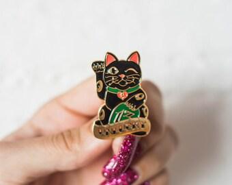 Unlucky Cat Soft Enamel Lapel Pin