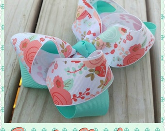 Excited to bloom 5 in hair bow