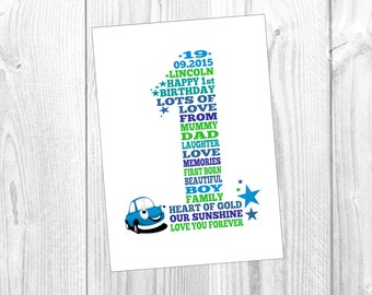 Birthday Keepsake Invitation (ANY colours) - A Printable File, Personalised To You!!
