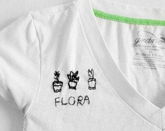 Plants Are Friends - Flora White V Neck