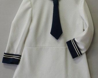 white sailor vintage dress