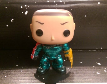 Custom Painted Mass Effect Commander John Shepard pop vinyl