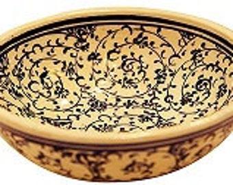Ceramic Bowl - Golden Horn