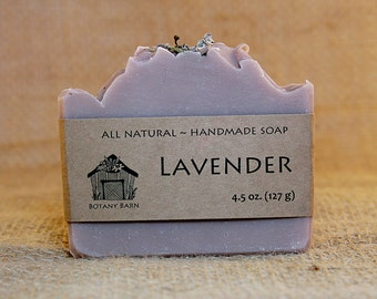 Lavender Soap - All Natural Soap, Organic Soap, Handmade Soap, Cold Process Soap, Vegan Soap