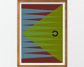 Abstract Printable Art, Geometric Art Poster, Prints Retro Art, Retro Revival Wall Art
