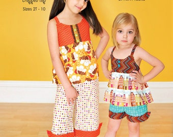 ModKid - Hannah - Paper Sewing Pattern for Girl's Top, pants, and shorts