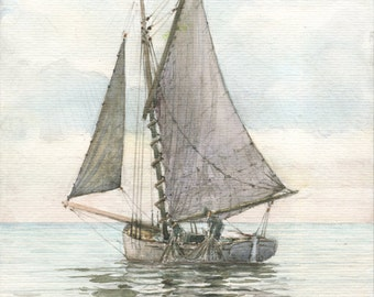 Fishing boat (watercolor)