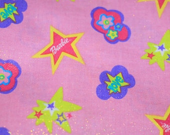 "New 56"" Continuous Piece Barbie Fabric With Silver Sparkles"