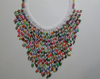 Colorful Floral Necklace