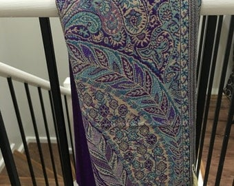 Pashmina Big Paisley Purple