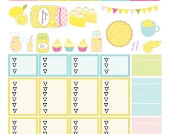 Lemonade Theme Sticker Kit Pg. 2