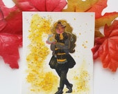 Hufflepuff Cutie Mini Painting