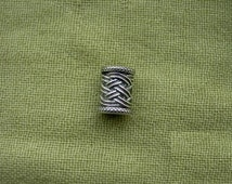 Viking Beard Ring. Beard bead. Thors beard or hair bead. Celtic ornament bead.