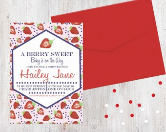 Baby Shower Invitation - Berry Sweet {Customized Printable Invitation}