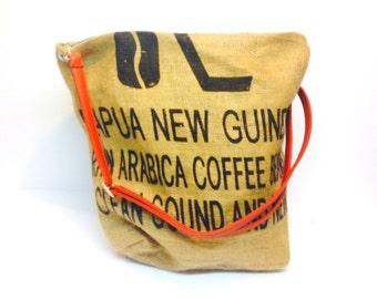 Papa New Guinea Burlap Tote Bag