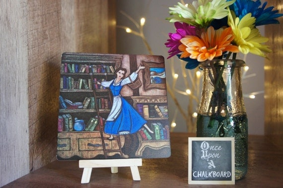 Beauty And The Beast Wooden Print Disney Home Decor