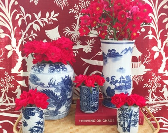 Blue & White Chinoiserie Cup #2