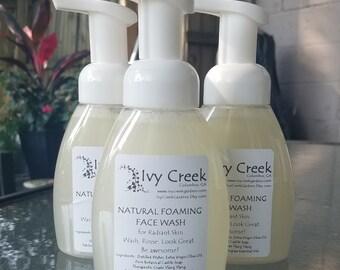 Natural Foaming Face Wash for Radiant Skin, Natural Face Wash, Holistic